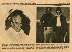Газета с фотографией Говарда Коселла и Тони Роббинса
